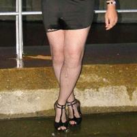 Wet spandex dress