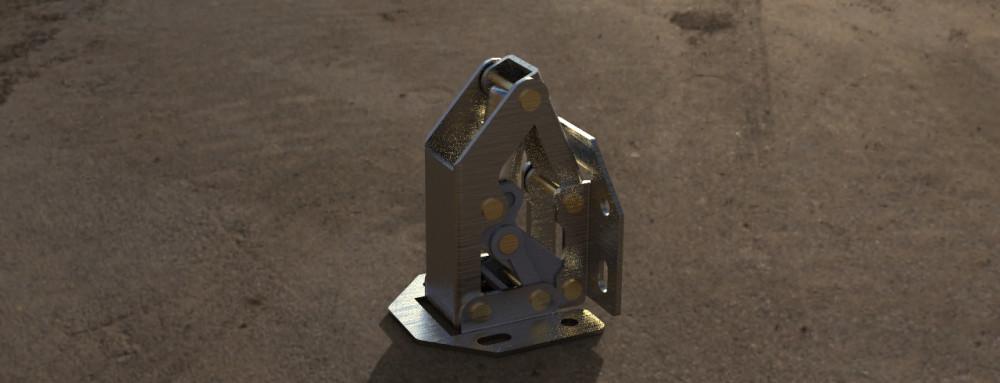 ZT-HF-01-Moo W - Петля поршневая (малая) изготовлена из листовых заготовок, соединена заклепками.