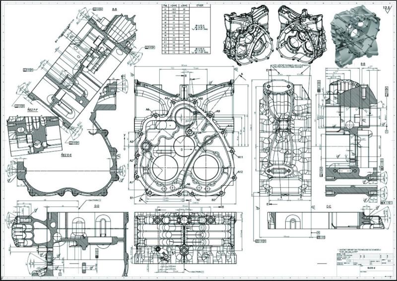 PDF (.pdf файл) чертеж крышки двигателя для тюнинга автомобиля
