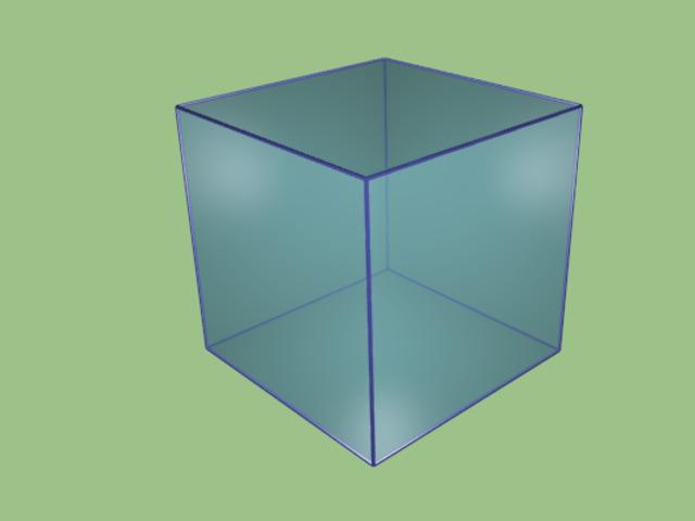 Простым примером трех типов является трехмерная модель простого куба.