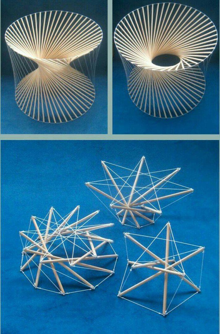 Тенсегрити — принцип построения конструкций из стержней и тросов, в которых стержни работают на сжатие, а тросы — на растяжение.