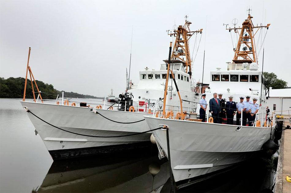 Украинские катера застряли в Балтиморе