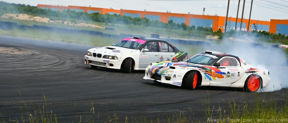 Drift-battle двух столиц Петербург и Москва