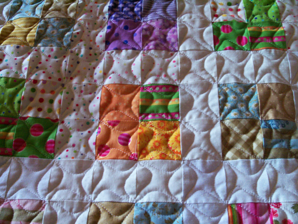 Twitterpated quilting closeup