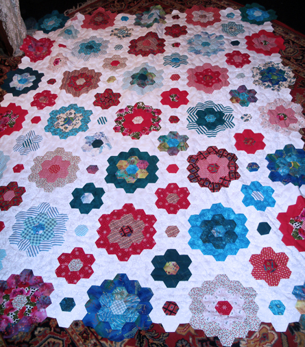 Hexi quilt center section finish