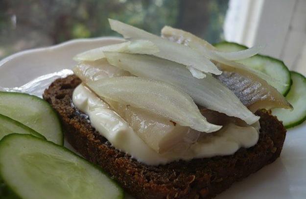 herring, mayo