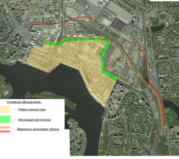 Карта с вариантами - юж порт