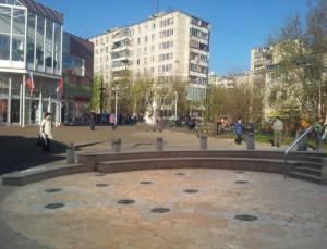 фонтан у метро-проект