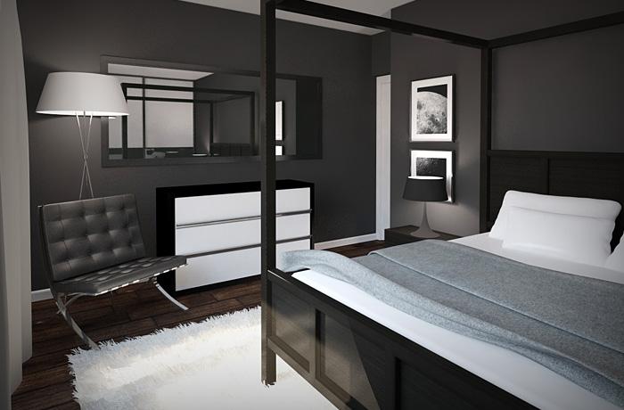 Черно белая комната