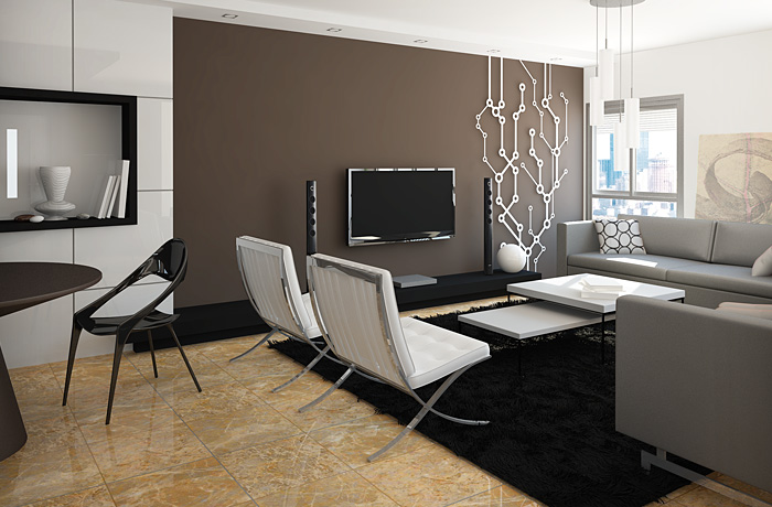 Дизайн интерьера современной гостиной в стиле минимализм. Современный интерьер. Шоколадный в интерьере. Стиль минимализм. Дизайнер интерьера Антон Печёный