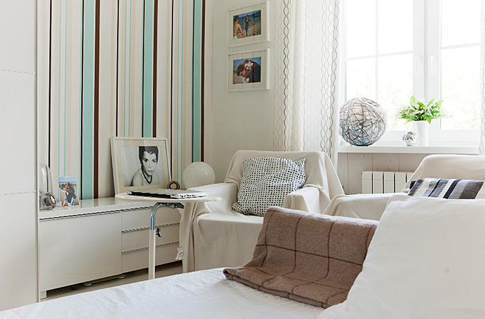 скандинавский стиль в интерьере, белый цвет в интерьере, уютный белый интерьер для молодой пары, интерьер спальни 2012, дизайн интерьера, дизайнер интерьера, дизайнер интерьера Антон Печёный