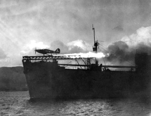 Hawker_Hurricane_launched_from_CAM_ship_c1941