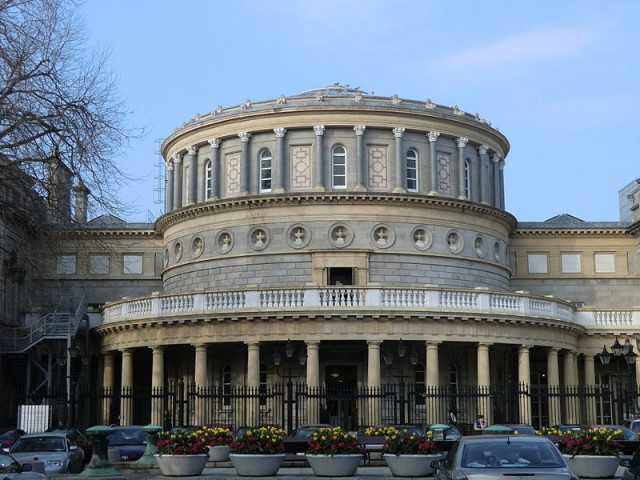 The National Library of Ireland in which the Dix Collection of Ireish printing is housed