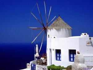Бело-синяя архитектура Греции