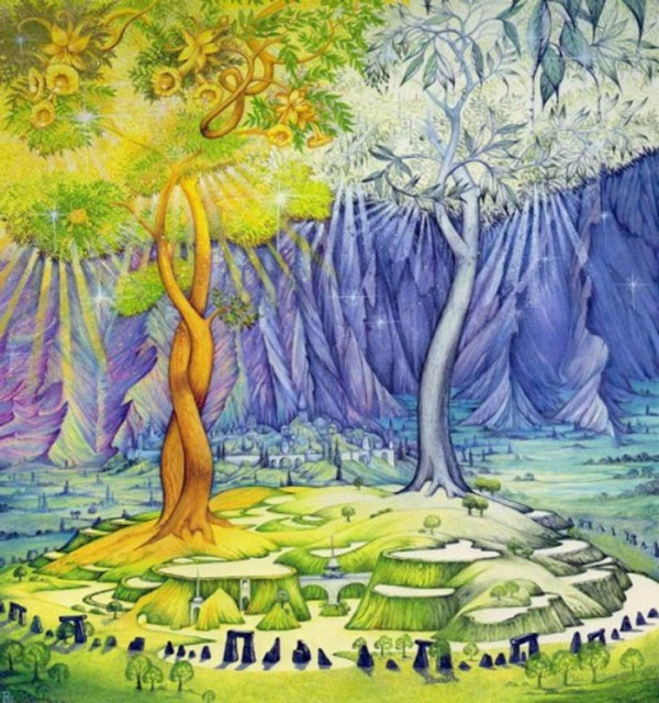 Telperion and Laurelin, the Trees of Valinor