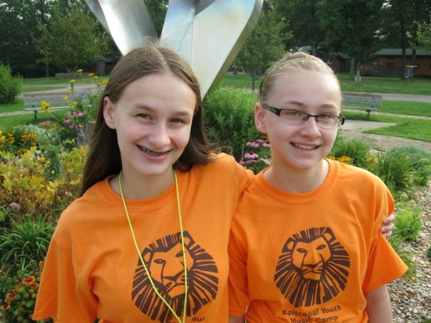 Fiona and Delia - Episcopal Youth Music Camp 2009
