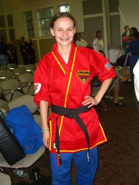 July 31, 2010 Black belt test for Fiona - Second degree