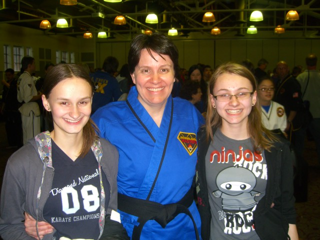 Three black belt girls!