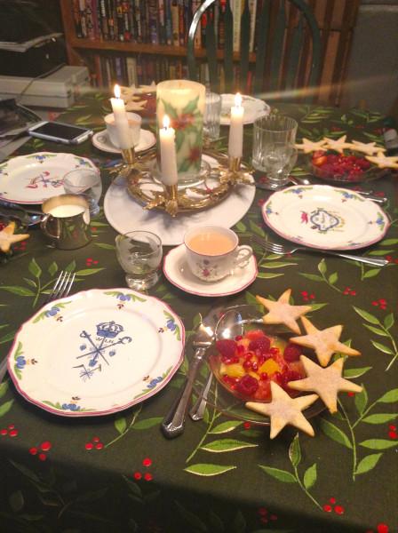 Table Christmas morning 2013