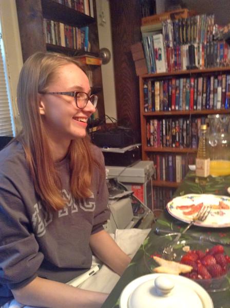 Delia Christmas morning 2013