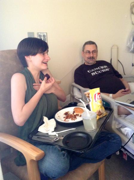 Hospital chemo visit - 9/2/14