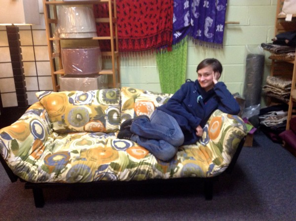Futon with Fiona Seal of Approval 11/4/14