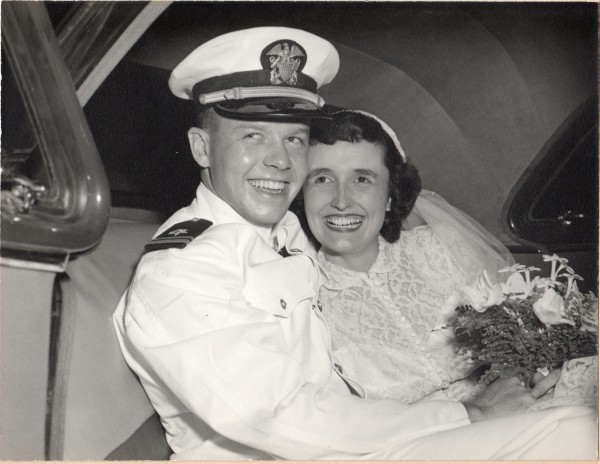 Mom and Dad, wedding day