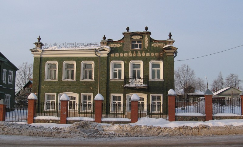 Дом Д. И. Волкова (ул. Салтыкова-Щедрина, 41). Ныне Талдомский историко-литературный музей.