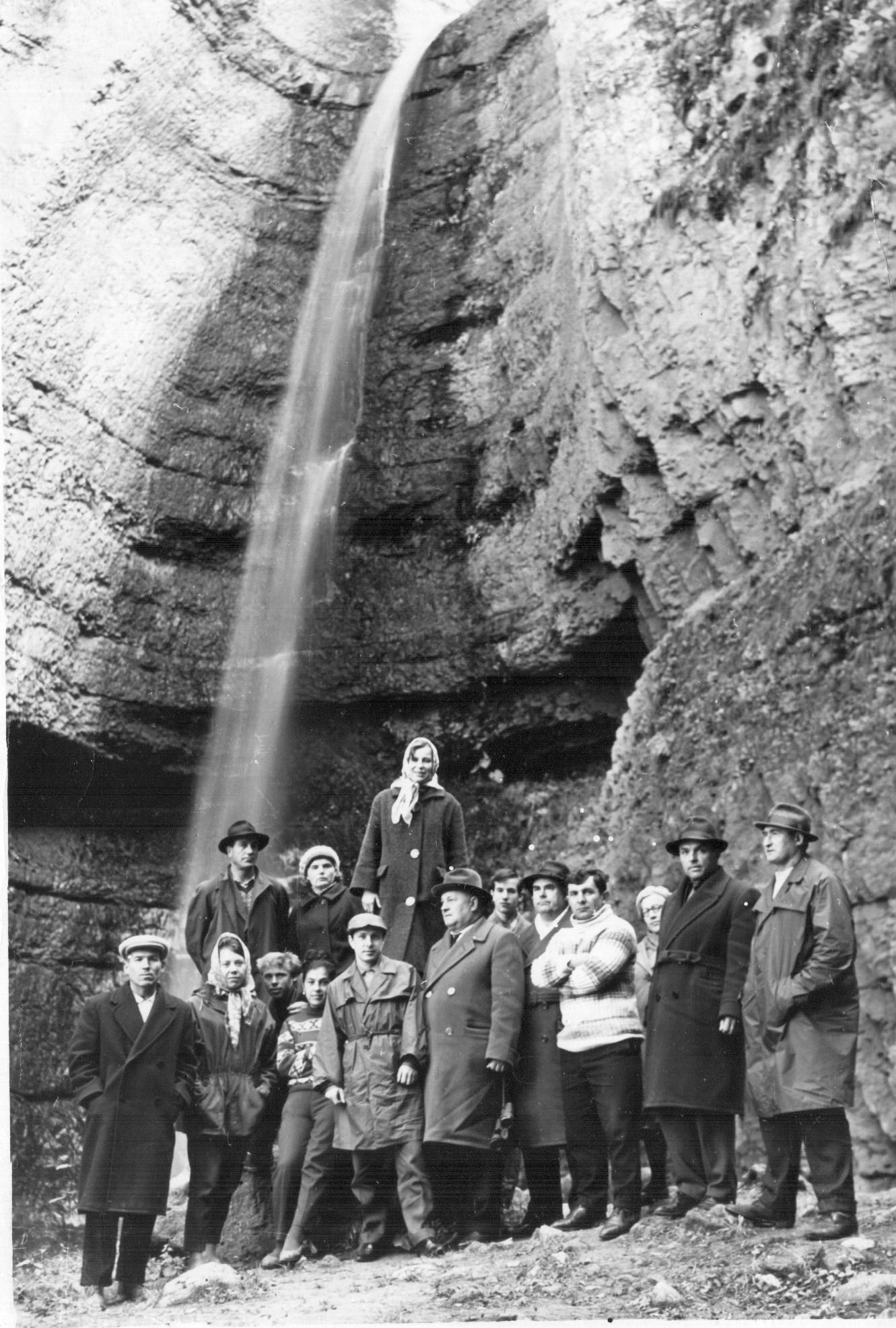 Кавказ. Чегемские водопады. 1965.