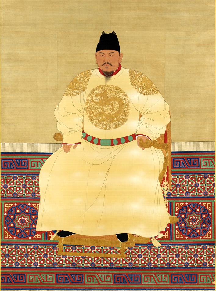 Чжу Юаньчжан, или Хунъу. До начала восстания Красных повязок - нищий крестьянин, потом - буддийский монах. Однако затем он женился на приемной дочери одного из руководителей восстания. Первый император новой династии Мин.