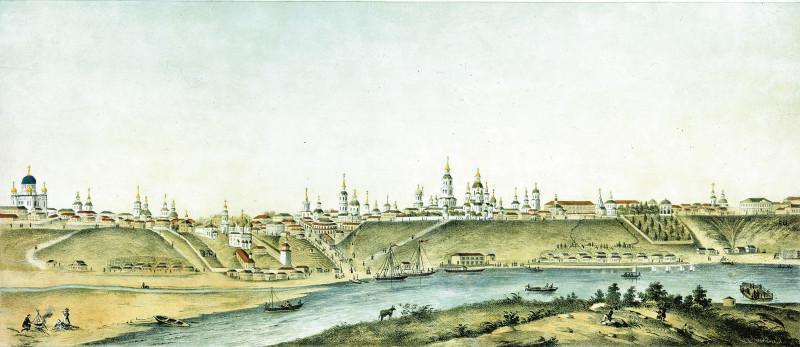 Панорама города Вятки. Неизвестный художник.