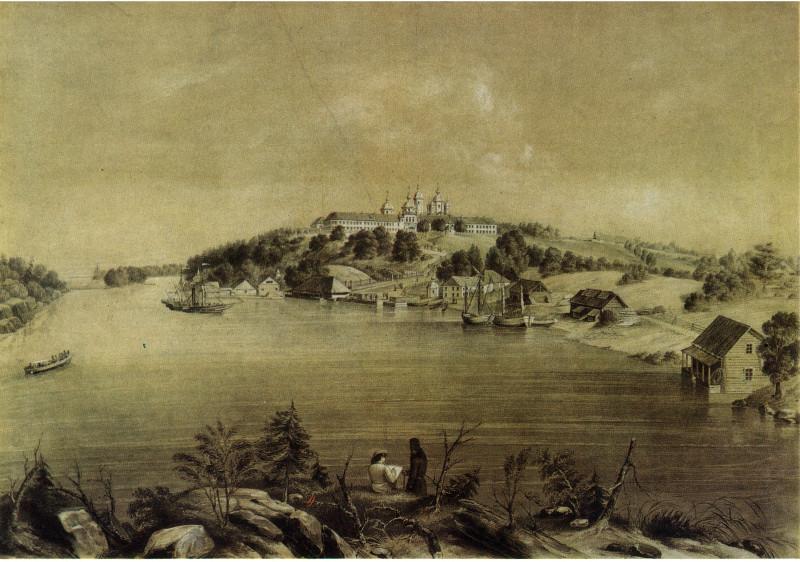 Борель П. Валаамский монастырь. Бумага, литография. Группа реставраторов.
