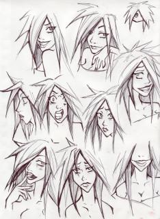 Femme Madara face study