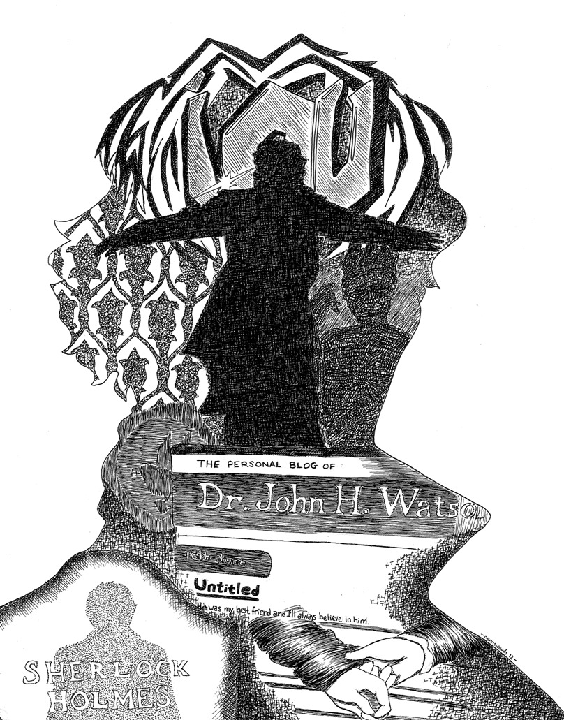Depiction of the events of The Reichenbach Fall