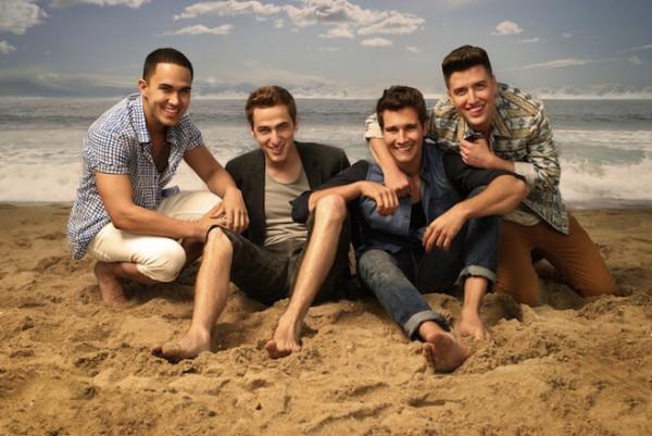 Nickelodeon-Stars-And-Cast-Of-Big-Time-Rush-Season-4-On-Beach-BTR-Boy-Band-Boyband-Music-Characters-Rushers-Nick