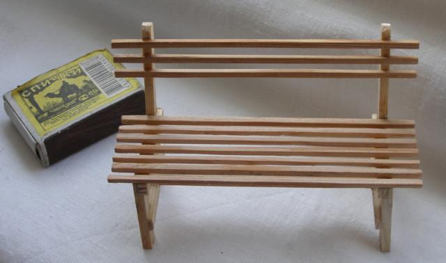 Как сделать скамейку для поделки 34