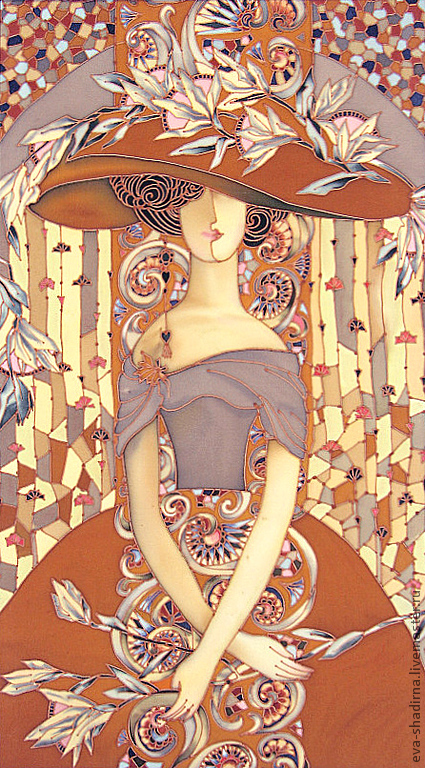 fce6260677-kartiny-panno-panno-batik-dama-s-liliyami-n6003