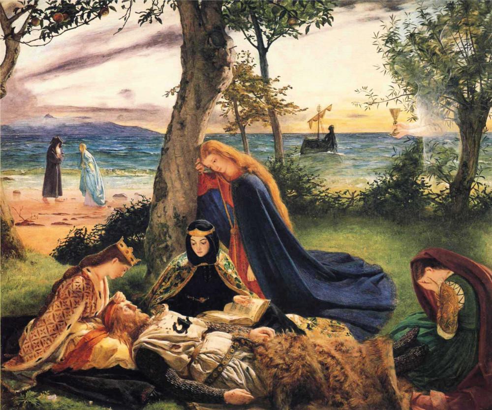 Джеймс Арчер – Смерть Артура, 1859