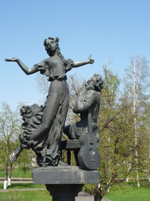Орел, Памятник Н.С.Лескову, Очарованный странник