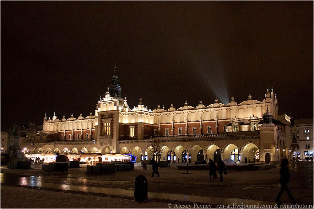 Торговые ряды на рыночной площади в Кракове