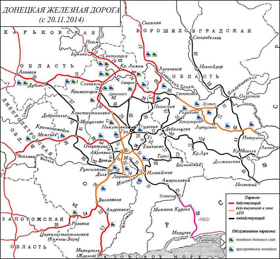 Карта пасс. движения в зоне