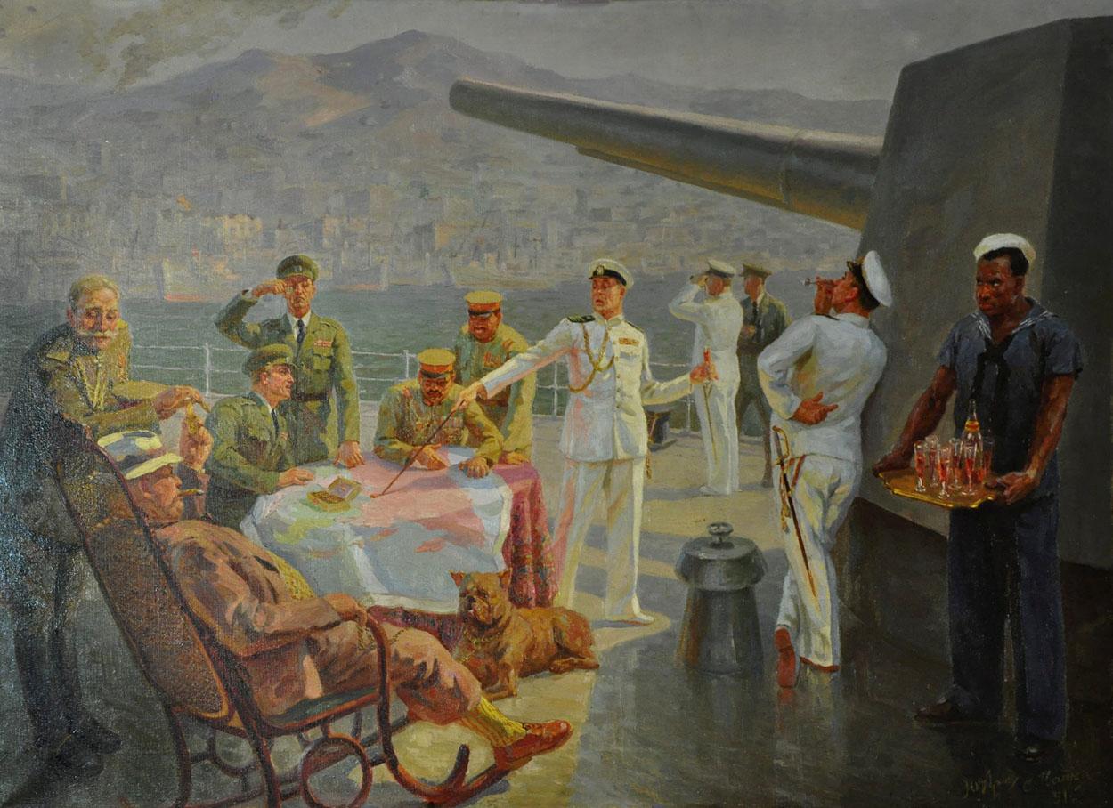 Владивостокский рейд. Сценка на палубе крейсера