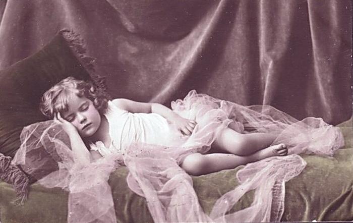 76432148_3165375_VintagePostcardLittleGirlSleeping
