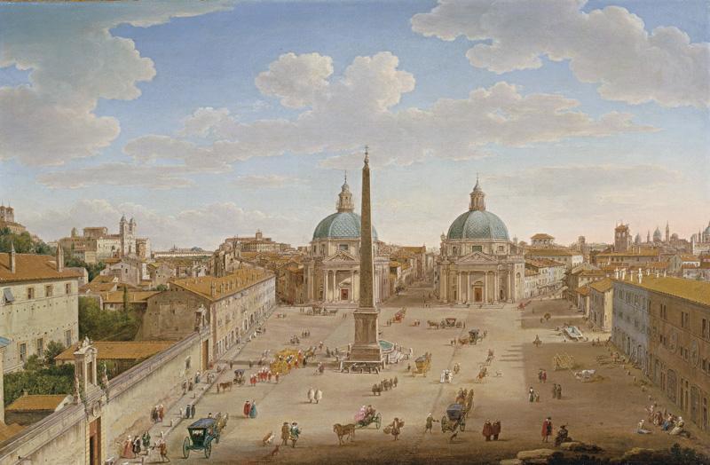 Hendrik_Frans_van_Lint_-_Roma_-_Piazza_del_Popolo_-_WGA13057