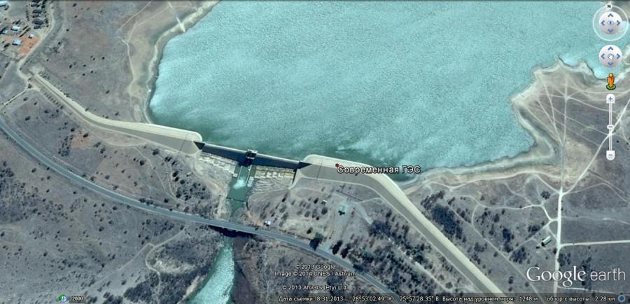 Современная ГЭС в той же Африке.2