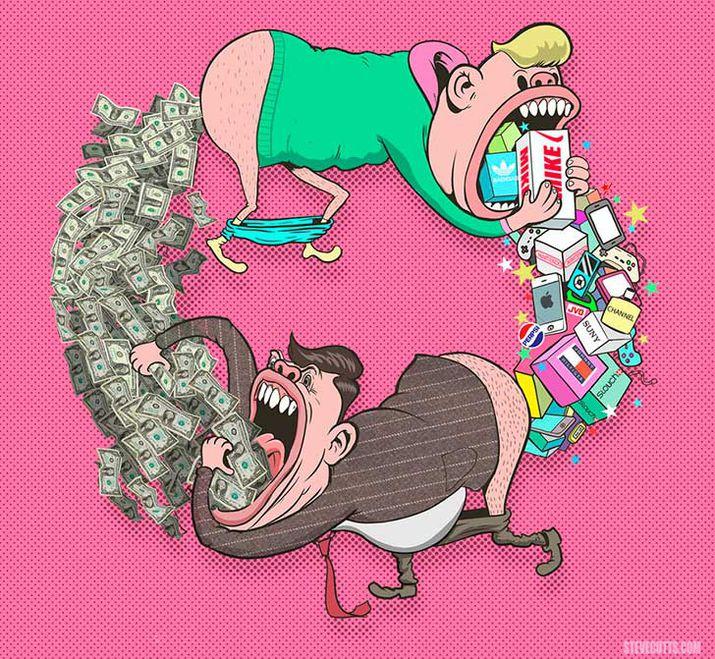 Автор карикатуры: Стив Каттс