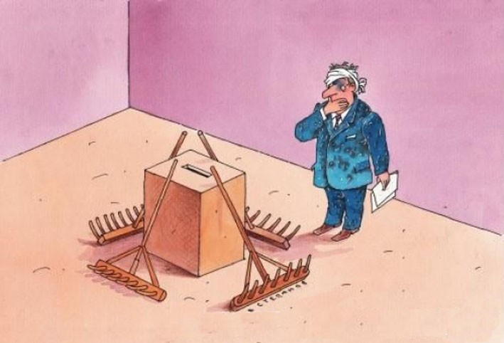 Картинки по запросу выборы карикатура