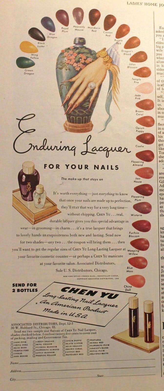 chen yu 1943 nail ad