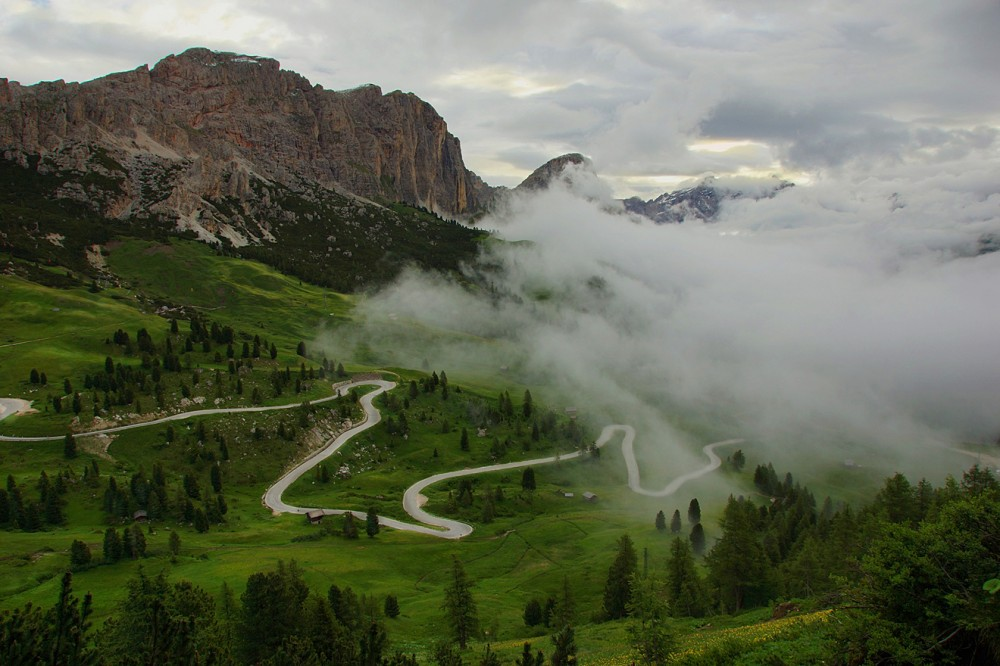 Доломитовые Альпы, Италия, Валь Гардена, Пассо Гардена (4)
