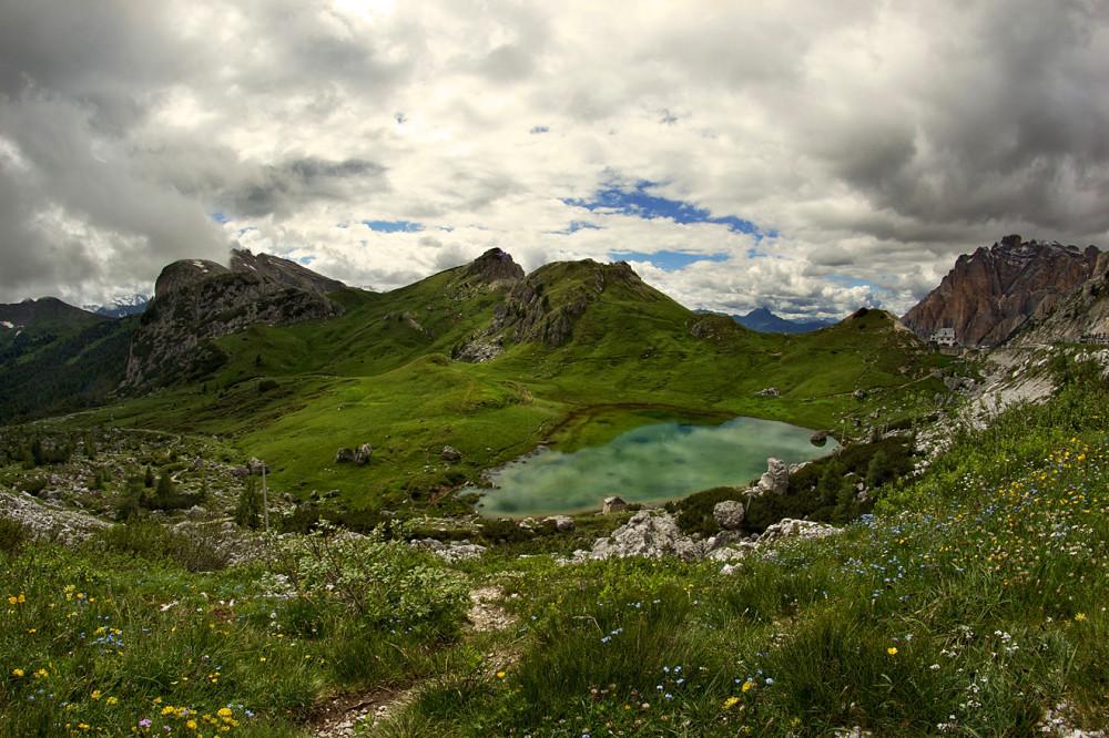 Италия, Доломиты, Альпы, Озеро Вальпорола, Перевал Вальпарола (1)